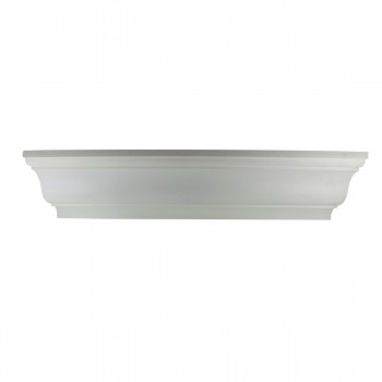"Cornice White Urethane 6 1/4"" H Liliana Simple 11774grid"