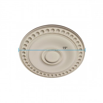 "spec-<PRE>Ceiling Medallion White Urethane 19"" Diameter </PRE>"