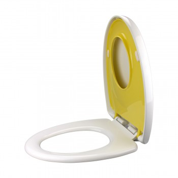 <PRE>Child &amp; Adult Toilet Seat Built-In Elongated Family Comfort </PRE>