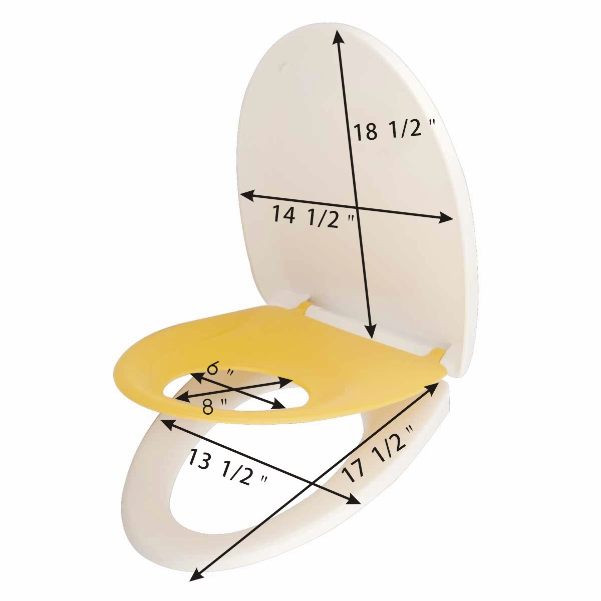 child adult toilet seat built in elongated family comfort