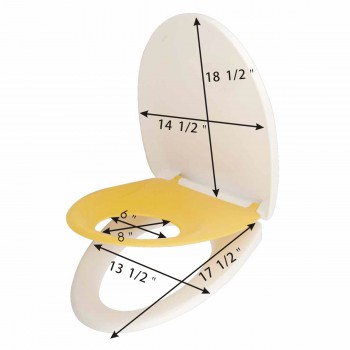 spec-<PRE>Child &amp; Adult Toilet Seat Built-In Elongated Family Comfort </PRE>