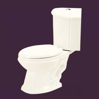 Toilets - Sheffield Dual Flush Corner Toilet Bone Elongated Bowl by the Renovator's Supply