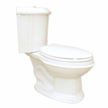 Sheffield Dual Flush Corner Toilet Bone Elongated Bowl
