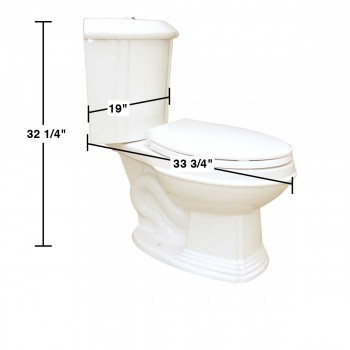 spec-<PRE>Bone China Elongated Space Saving Corner Toilet </PRE>