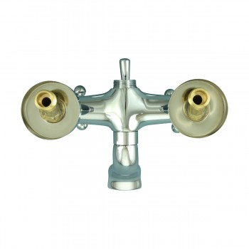 <PRE>Tub Faucet Part Chrome Cross 3 Handles Deck Mount Part Only </PRE>zoom6