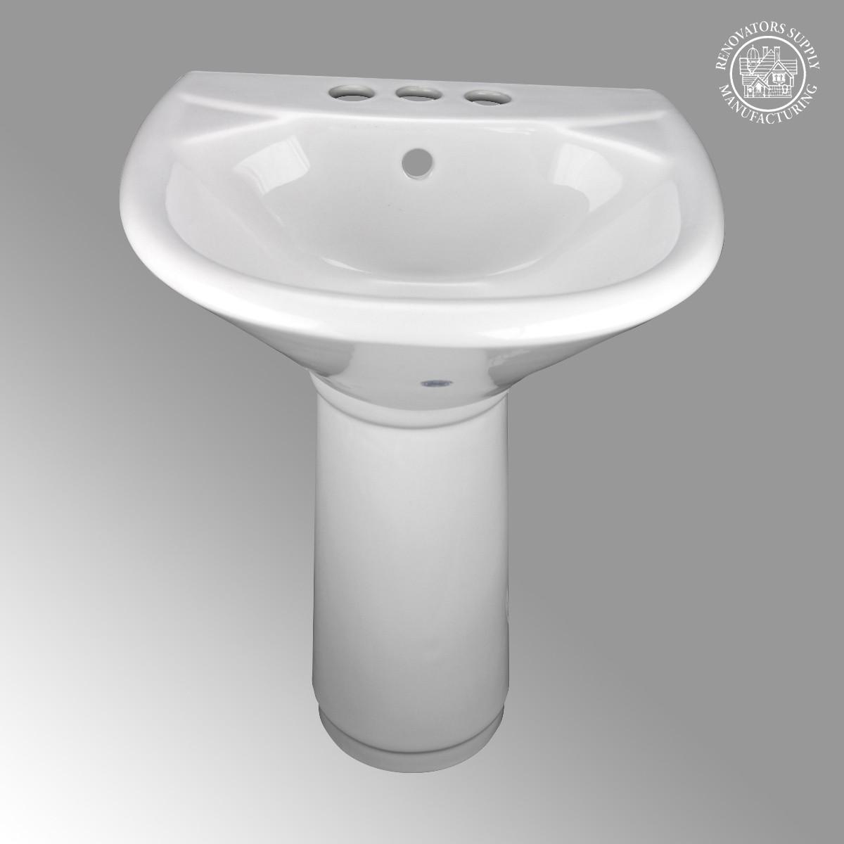 Beau ... U003cPREu003eChild China White Mini Porcelain Pedestal Sink Toddler ...
