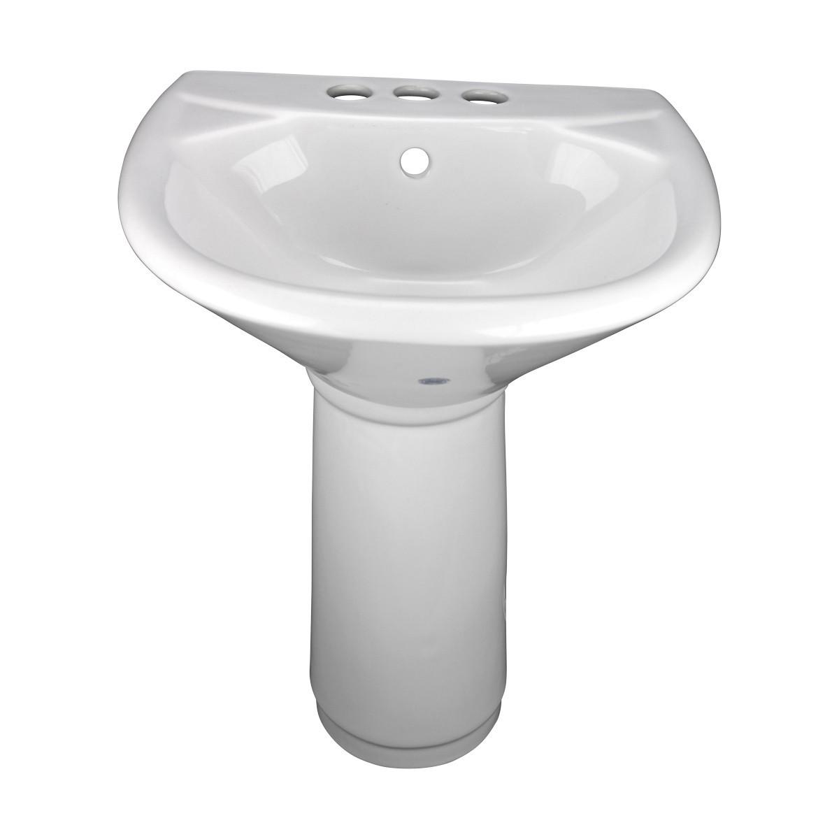 Mini pedestal bathroom sinks