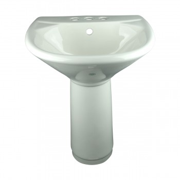 Child Sized Smallest Pedestal Sink Grade A Vitreous Bone China
