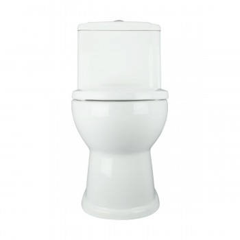 Childrens One Piece Toilet in White With Pushbutton Flush Renovators Supply Child Small Dual Flush Toilet Little Kid Round Push Button Toilet Water Saving Kids Toilets