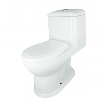 Childrens One Piece Toilet in White With Pushbutton Flush Renovators Supply