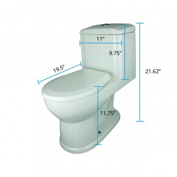 "spec-<PRE>Child Potty Training Toilet 11 3/4"" Short Height Push Button Flush One Piece Round Heavy Duty Porcelain</PRE>"