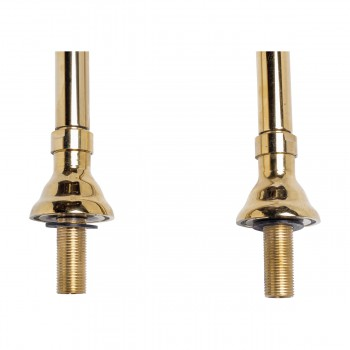 <PRE>Freestanding Clawfoot Tub Faucet Parts Supply Line Gold PVD </PRE>zoom4