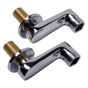 Adjustable Swing Arm Coupler Wall Mount Tub Faucet Parts 11969grid