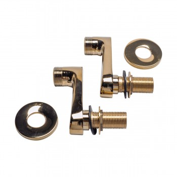 Adjustable Swing Arm Coupler Tub Wall Mount Brass PVD