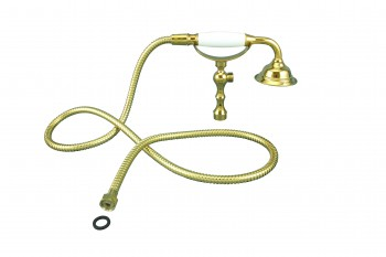 <PRE>Handheld Telephone Shower Set Gold PVD 1 Handle Deck Mount </PRE>zoom1