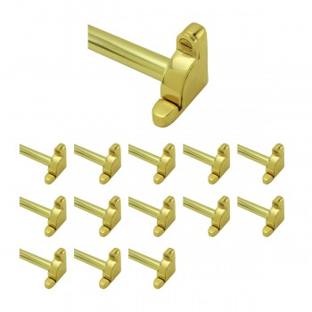 Bright Brass Carpet Rod Holder for Stair Runner 39 5/8 Inch Length Set of 1312005grid