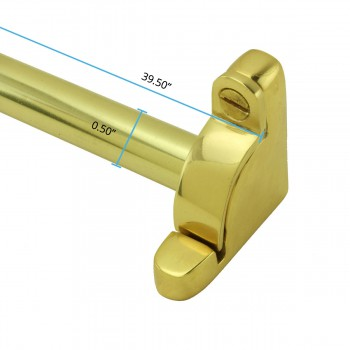 spec-<PRE>Bright Brass Carpet Rod Holder for Stair Runner 39 5/8 Inch Length Set of 13</PRE>