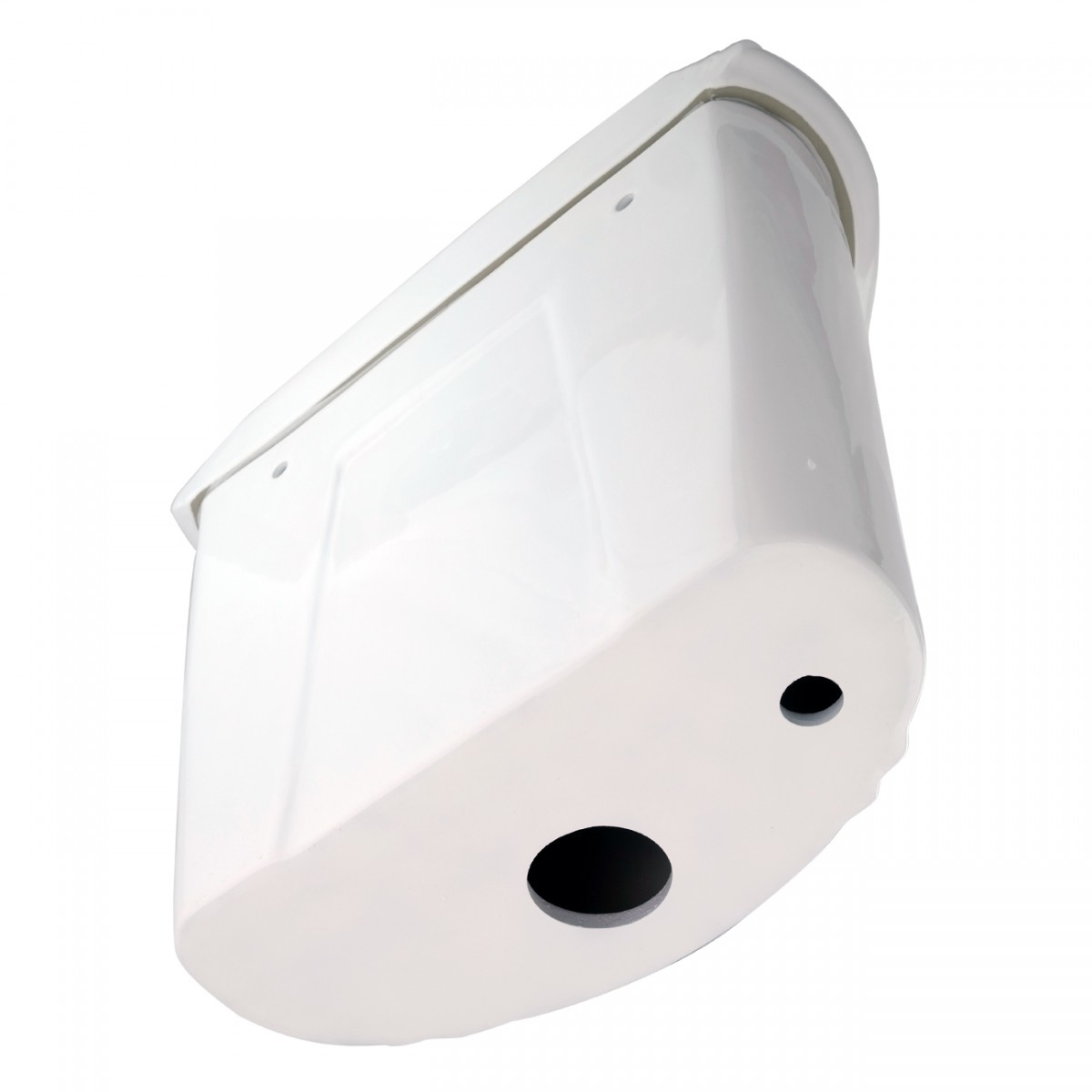 White Porcelain High Tank Toilet with Brass LPipe and Elongated Toilet Bowl High Tank Pull Chain Toilets High Tank Toilet with Elongated Bowl Old Fashioned Toilet