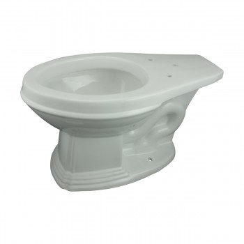 <PRE>White Porcelain High Tank Toilet with Brass L-Pipe and Elongated Toilet Bowl</PRE>zoom8