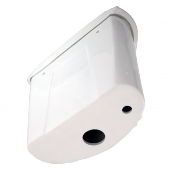 <PRE>White High Tank Pull Chain Toilet with White Round Bowl and Chrome Rear Entry</PRE>zoom4