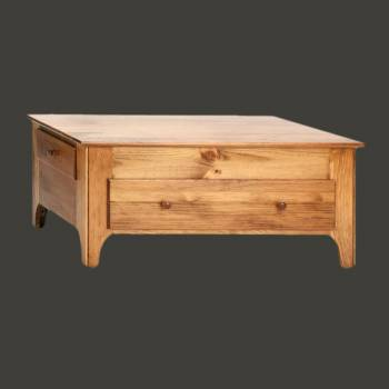 spec-<PRE>Honey Pine Coffee Table Pine 16 3/4H x 38 1/4W</PRE>