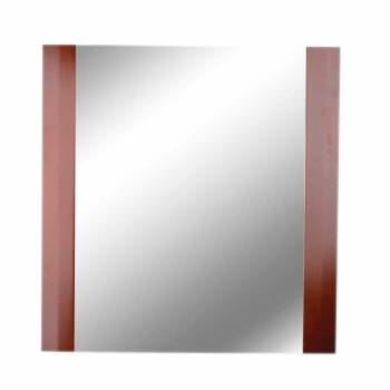 Bathroom Wall Mirror Square Cherry Oak Framed  12148grid