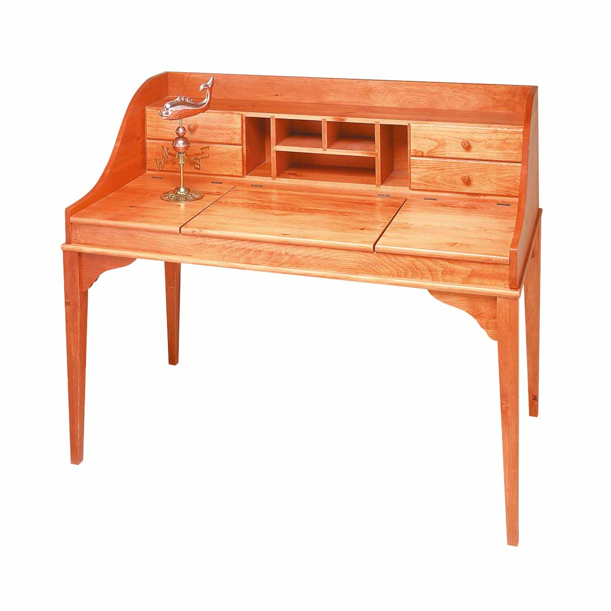 Shaker Unfinished Solid Pine Writing Desk Unfinished Pine Machined