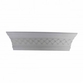 Ornate Cornice White Urethane  79 34 L  Fern Classy Cornice Molding Simple Ceiling Cornice Molding Contemporary Cornice Molding