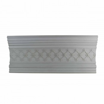 Ornate Cornice White Urethane 7 1/8