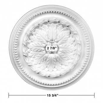 spec-<PRE>Ceiling Medallion White Urethane 15 3/4&quot; Diameter </PRE>