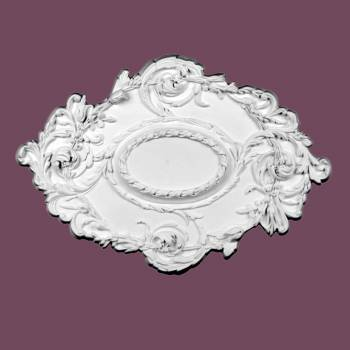<PRE>Ceiling Medallion White Urethane 21&quot; X 30 1/4&quot; </PRE>