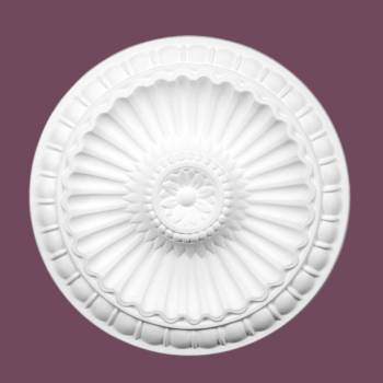 Ceiling Medallions - Ceiling Medallion Plumeria  11 1/4 in. dia. Without Center Cut by the Renovator's Supply