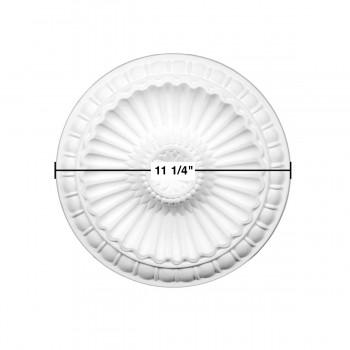 spec-<PRE>Ceiling Medallion White Urethane Primed 11 1/4&quot; Diameter </PRE>