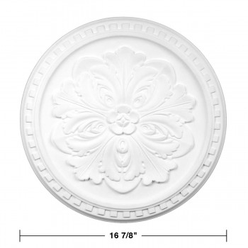 spec-<PRE>Ceiling Medallion White Urethane Primed 16 7/8&quot; Diameter </PRE>