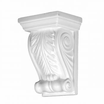 Victorian Wall Fireplace Corbel White Urethane Vintage 12381grid