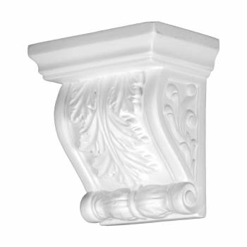 Victorian Wall Fireplace Corbel White Urethane Vintage 12382grid