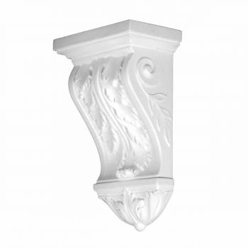 Victorian Wall Fireplace Corbel White Urethane Vintage 12383grid