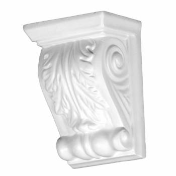 Victorian Wall Fireplace Corbel White Urethane Vintage 12384grid