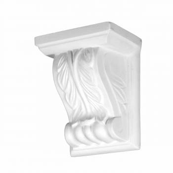 Victorian Wall Fireplace Corbel White Urethane Vintage 12385grid