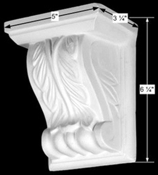 spec-<PRE>Decorative Vintage Wall Fireplace Corbel White Urethane </PRE>