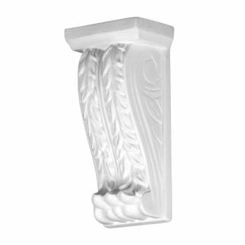 White Urethane Victorian Fireplace Wall Corbel  12386grid