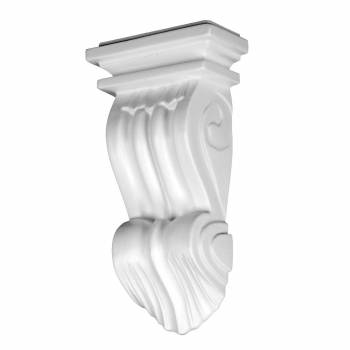Victorian Wall Fireplace Corbel White Urethane Vintage 12387grid