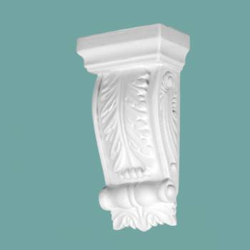 Victorian White Urethane Vintage Wall Corbel Pilaster Corbel Corbels