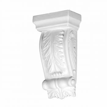 Victorian Wall Fireplace Corbel White Urethane Vintage 12388grid