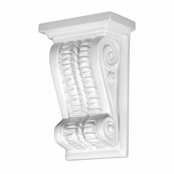 Victorian Wall Fireplace Corbel White Urethane Vintage 12391grid