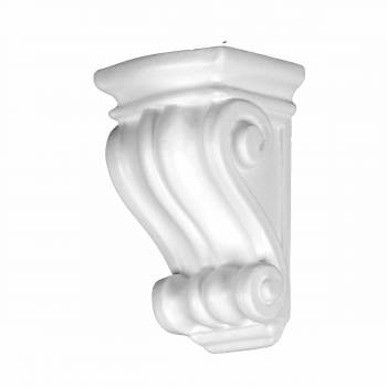Victorian Wall Fireplace Corbel White Urethane Vintage 12394grid