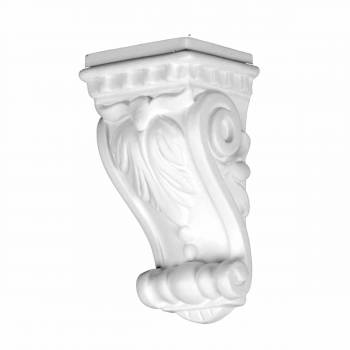 <PRE>Victorian Wall Fireplace Corbel White Urethane Vintage </PRE>zoom1