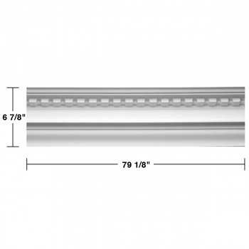 "spec-<PRE>Cornice White Urethane 6 7/8"" H Plantation House Ornate </PRE>"