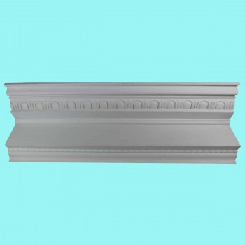 Cornice White Urethane  78 12 L   Ruskin Ornate Ornate Cornice Crown Molding Contemporary Crown Molding Crown Molding Corners