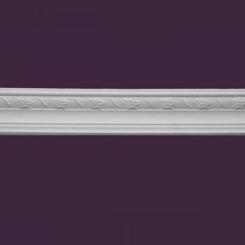 <PRE>Ornate Cornice White Urethane 3 5/8&quot; H </PRE>